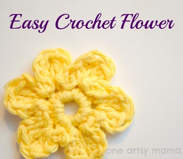 Crochet Flower Tutorial For Beginners : Crochet 101: Easy Crochet Flower Crochet Pinterest