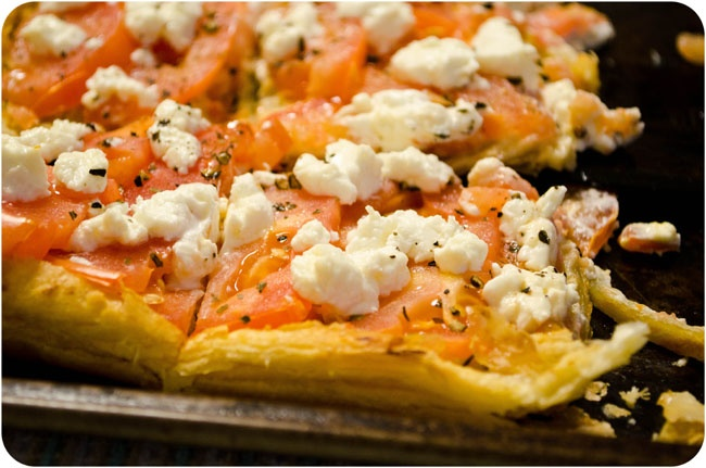 Tomato and Goat Cheese Tart | Delish | Pinterest