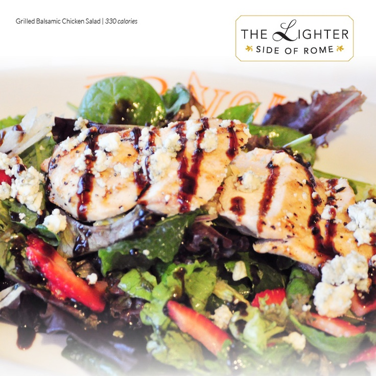 Grilled Balsamic Chicken Salad (330 calories) - Field greens ...