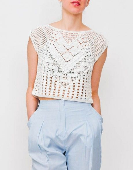 Lauren Moffatt Crochet Crop Top stuff Pinterest