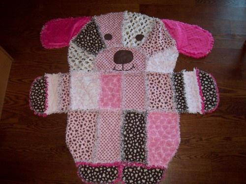 puppy dog rag quilt Crafts Pinterest