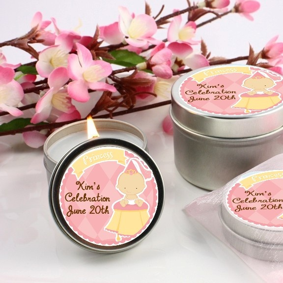 little princess baby shower candle favors baby shower ideas