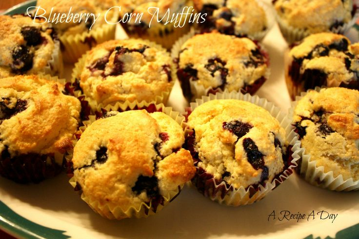 Blueberry Corn Muffins | Food | Pinterest