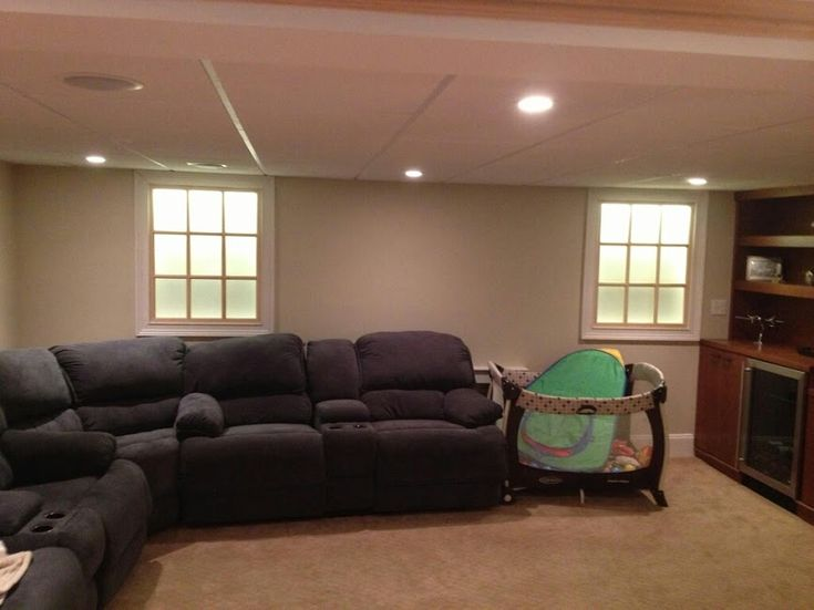 Faux windows with backlight for basement