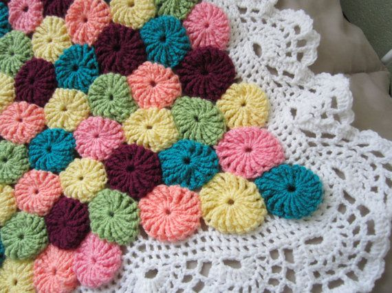 Crochet YoYo Baby Afghan...Granny Square Children by GalyaKireva...INSPIRATION