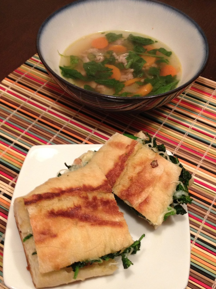 broccoli rabe panini with mozzarella | Healthy Meals | Pinterest
