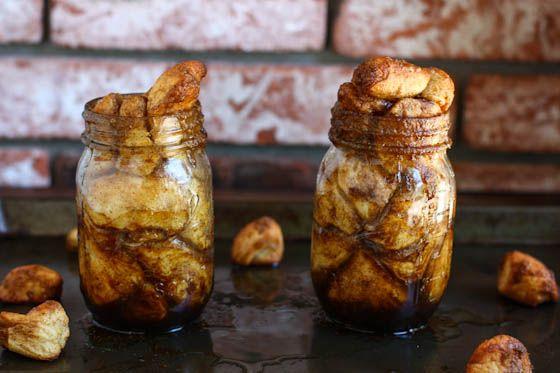 Monkey Bread in a Jar (or Cinnamon Sugar Pull-Apart Bread) Cool idea ...