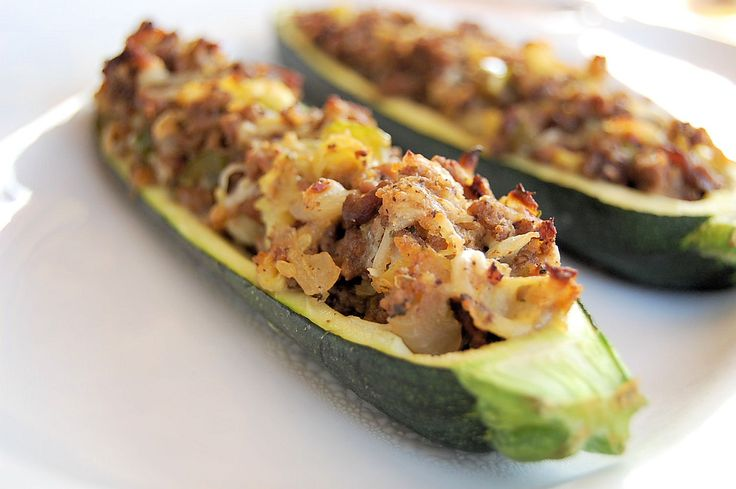 Stuffed Zucchini Boats for Kids