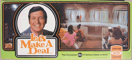 Let s make a deal board game game shows tv s purgatory pinterest