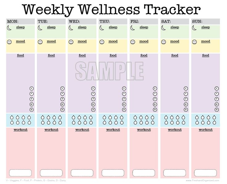 ... log, food diary, activity tracker, mood tracker - INSTANT DOWNLOAD