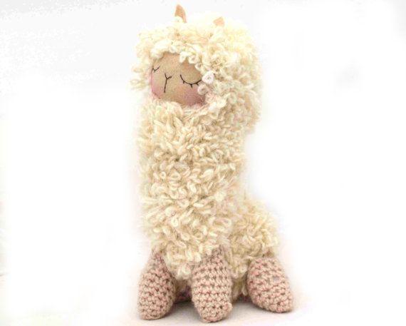Crochet Amigurumi Llama : Llama lama plush amigurumi felt alpaca doll stuffed animal ...