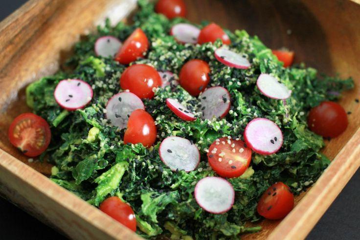 Raw Kale Salad | Delicious Salads! | Pinterest