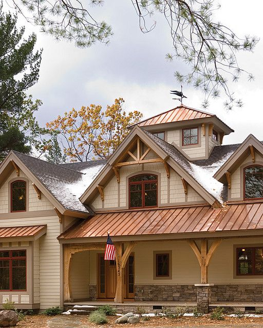 Best Ivory Siding Copper Roof There S No Place Like Home 640 x 480