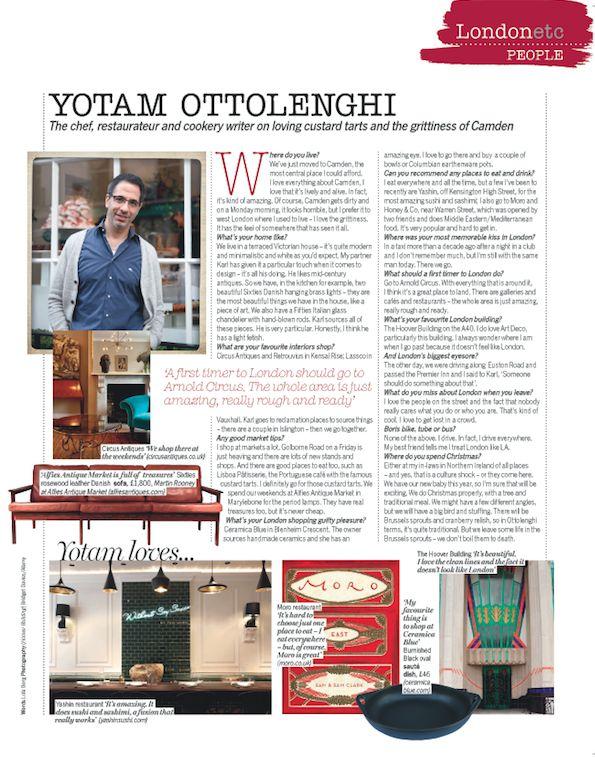 Yotam Ottolenghi | London List | Pinterest