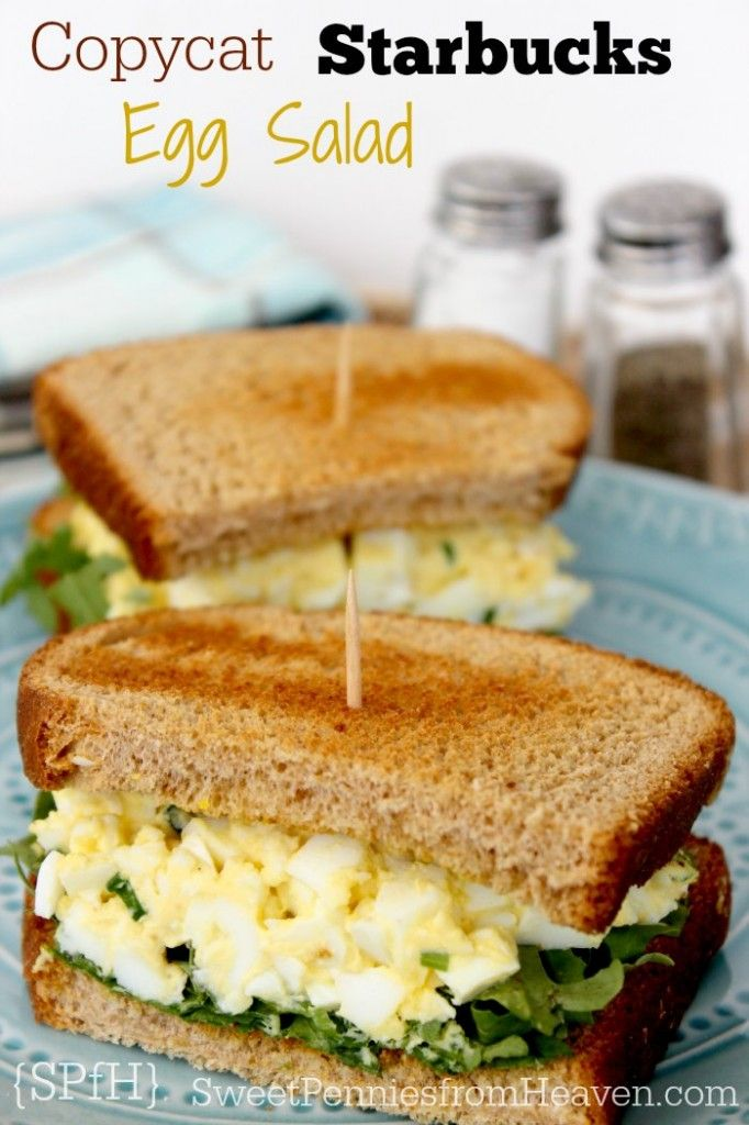 Easy Copycat Starbucks Egg Salad Sandwich Recipe! Perfect for lunch or ...