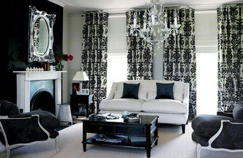 Damask living room home decor pinterest for Damask wallpaper living room ideas