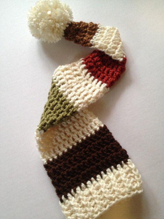 Elf Beanie Knitting Pattern : Handmade crochet baby elf hat baby beanie