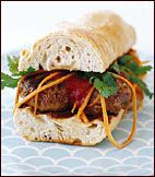 Vietnamese Grilled Pork Meatball Sandwiches Recipe by Charles Phan ...