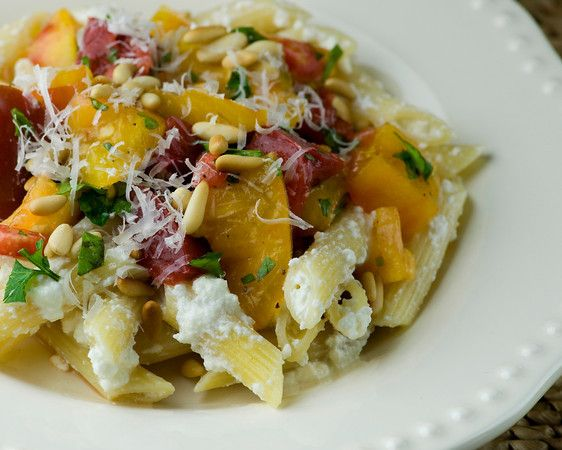 Pasta with Ricotta and Heirloom Tomatoes | Food | Pasta | Pinterest