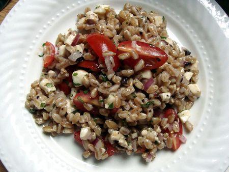 Summer Farro Salad - in Jennie's kitchen