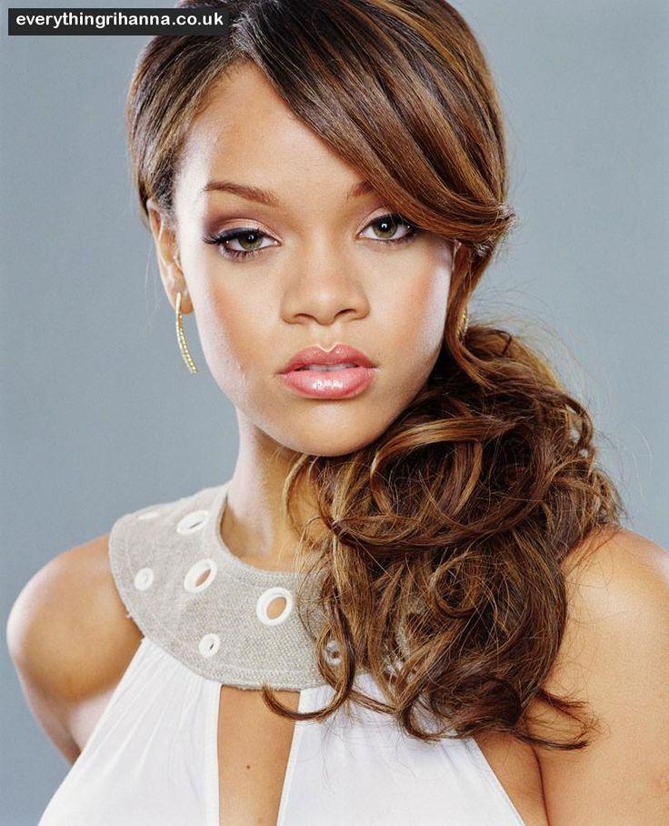 Rihanna Side Ponytail Hairstyles