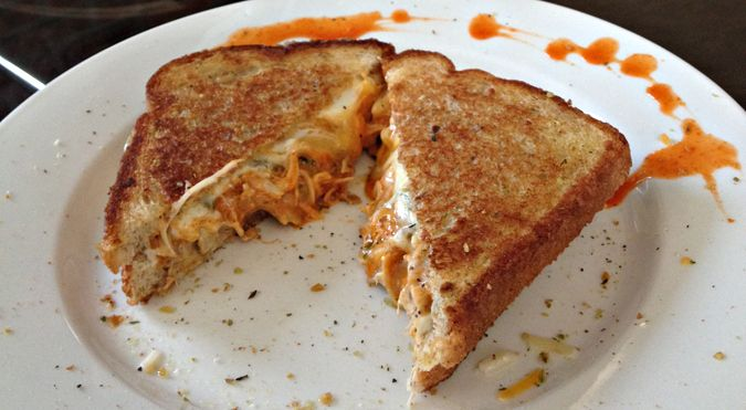Buffalo Chicken Grilled Cheese Sandwich! | Food | Pinterest