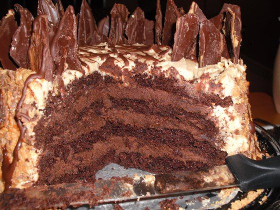 hot chocolate peanut butter truffle cake | Cake Bars and Pies Oh My ...