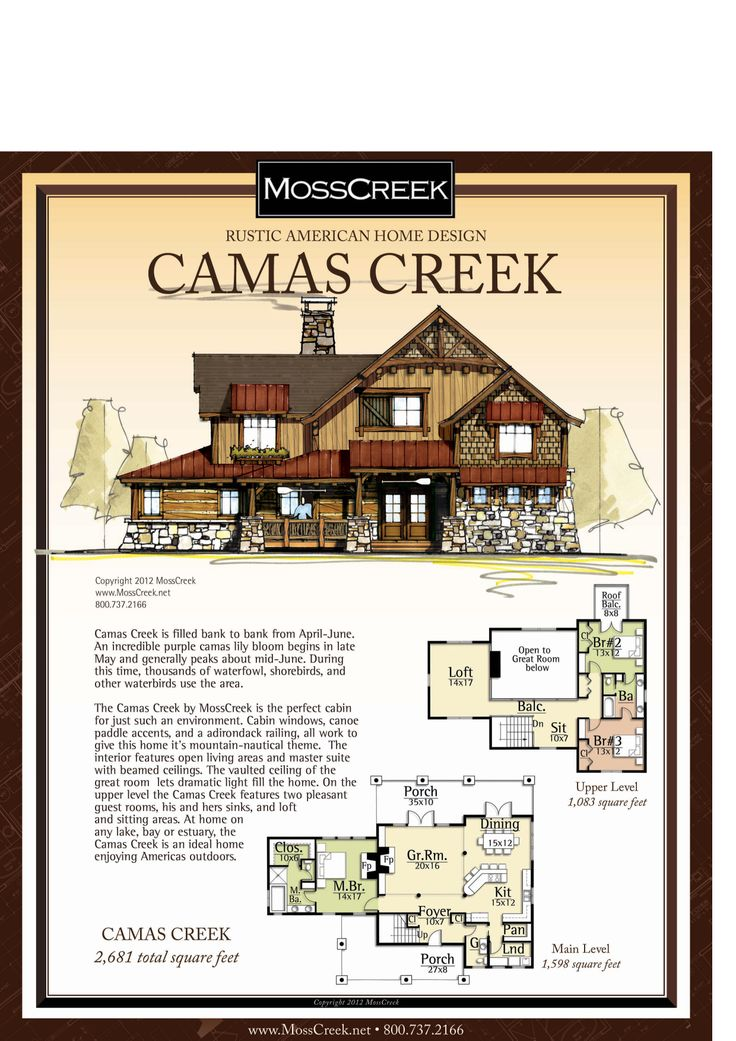 Moss creek camas creek for Moss creek house plans