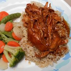 Zesty Slow Cooker Chicken Barbecue | Five star BBQ with almost no-prep ...