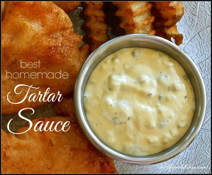 Best Homemade Tartar Sauce- I left out the Worcestershire sauce and ...