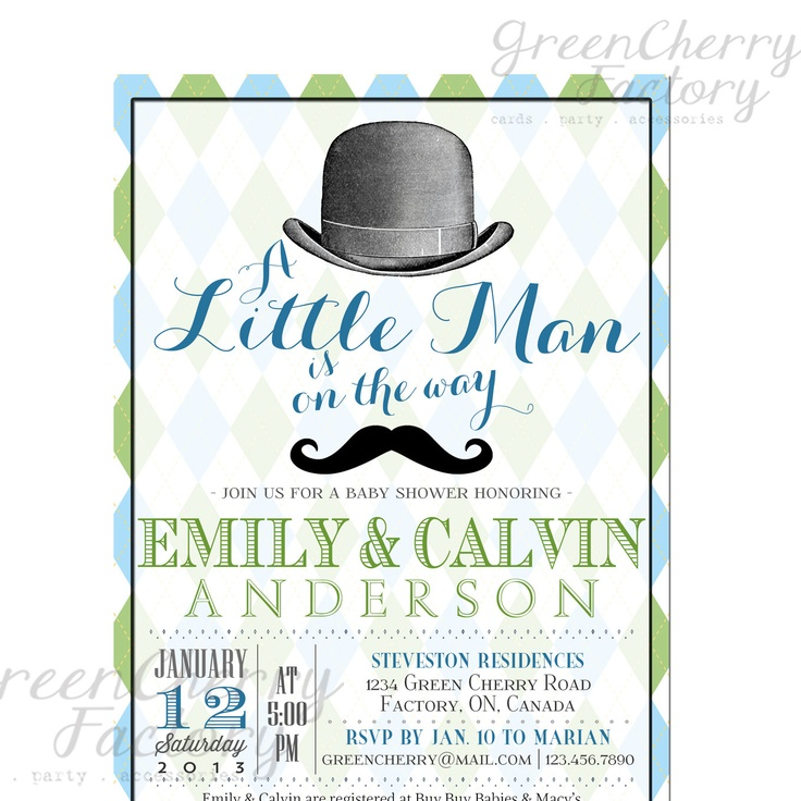 little man baby shower invitation baby pinterest