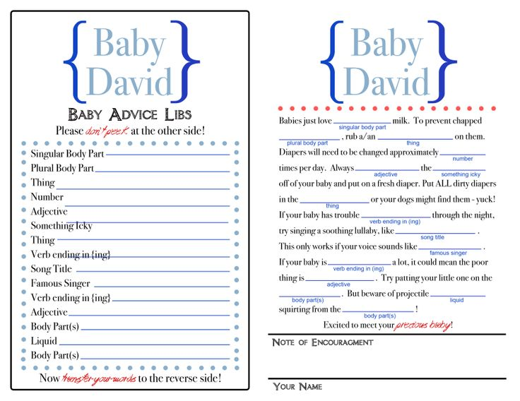 baby mad libs baby shower ideas pinterest