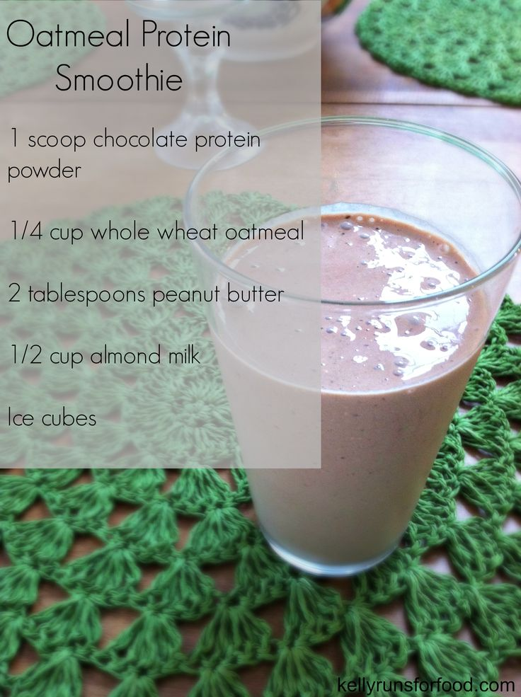 Oatmeal Protein Smoothie | Healthy drinks | Pinterest