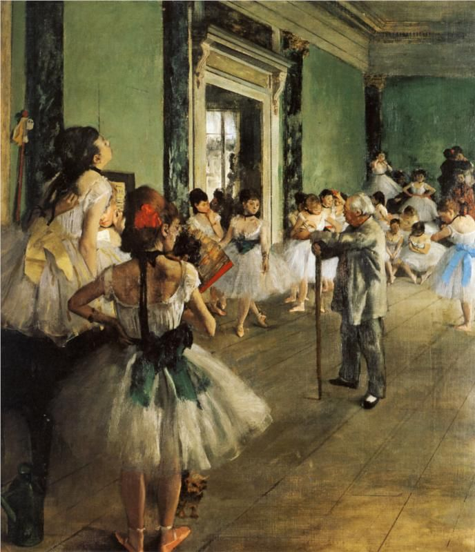 The Ballet Class, oil on canvas by Edgar Degas, c.1874 (Impressionism)