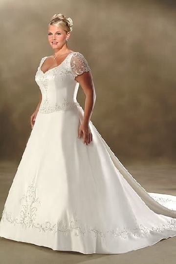 Wedding Dresses Under $100 In  : Plus size wedding gowns under