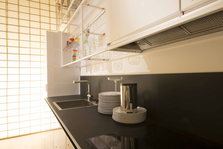 Eksploatowane meble kuchenne z materiału Nano-Tech