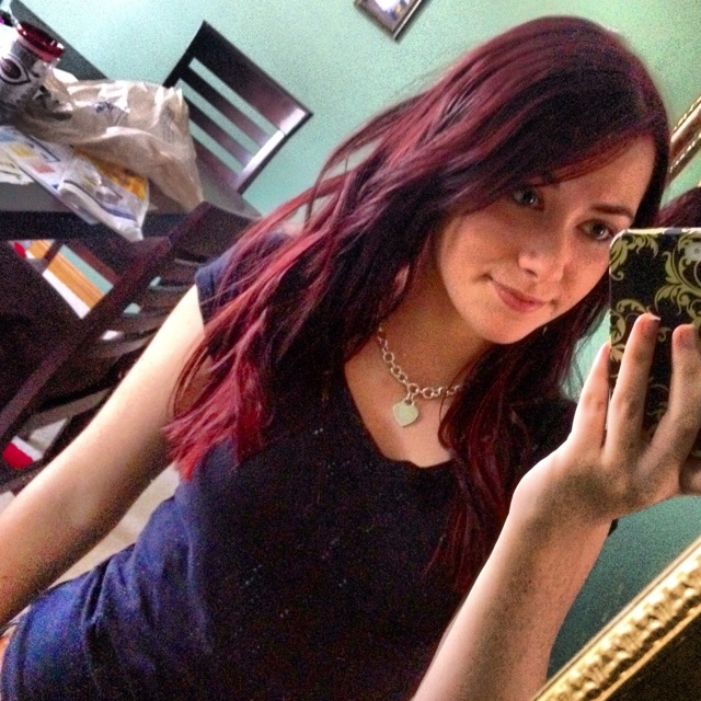 Cherry cola hair. Blackish purple with red peeking out the bottom ...