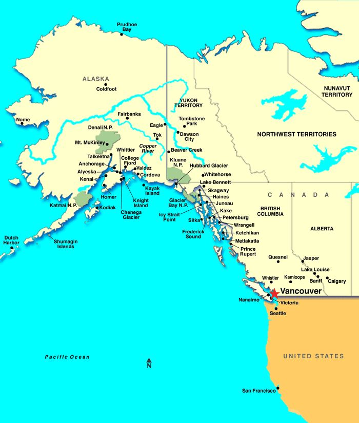how to get from alaska to vancouver