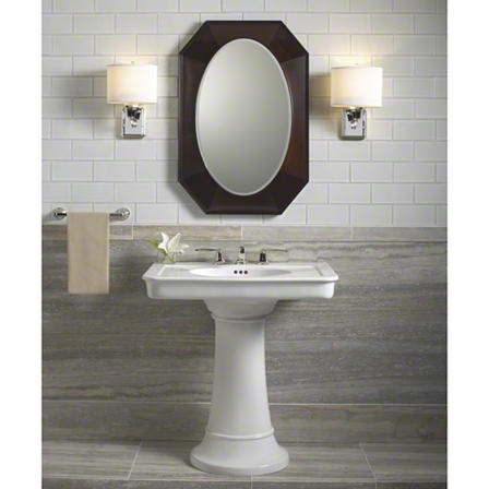 Pedestal Sink With Counter Space : great powder room pedestal sink with plenty of counter space.