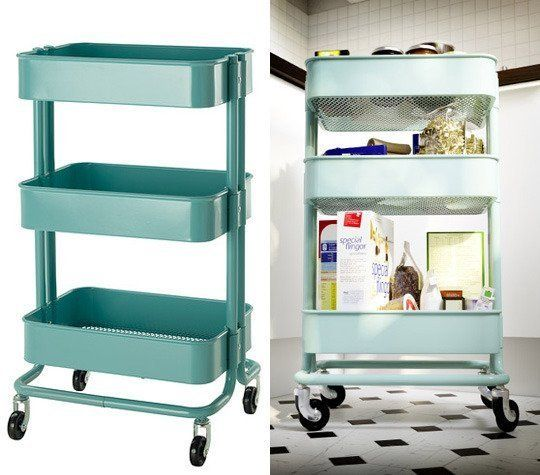 Kitchen Cart in Turquoise by IKEA  1956  Pinterest