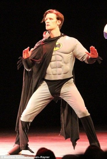 Eleventh Doctor in a Batman costume... wait.... what?!
