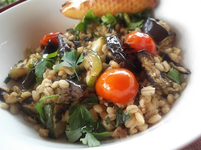 warm pearl barley salad with aubergine & ratatouille @ loveme-feedme ...