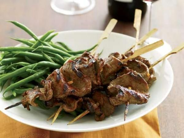 Grilled Beef-Tenderloin Skewers with Red-Miso Glaze | KitchenDaily.com