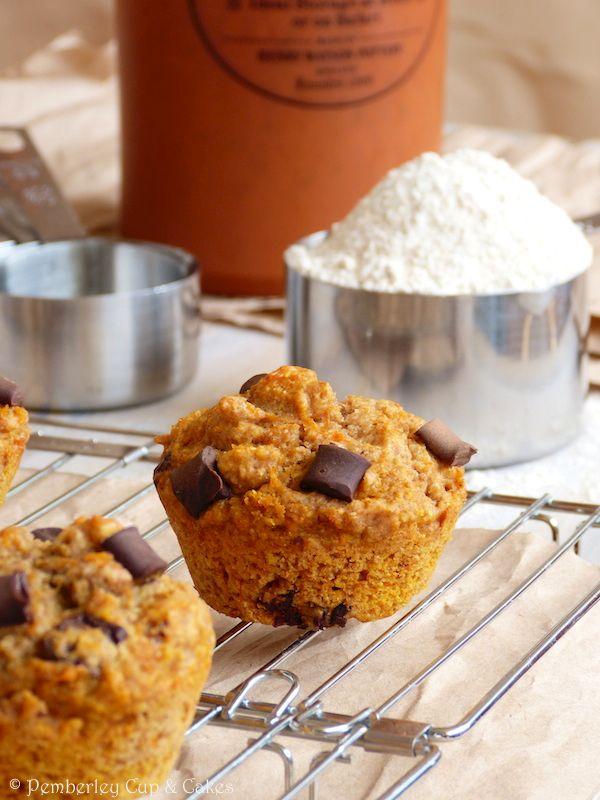 Sugar Free Whole Wheat Chocolate Chunk Pumpkin Muffins {Muffins ...