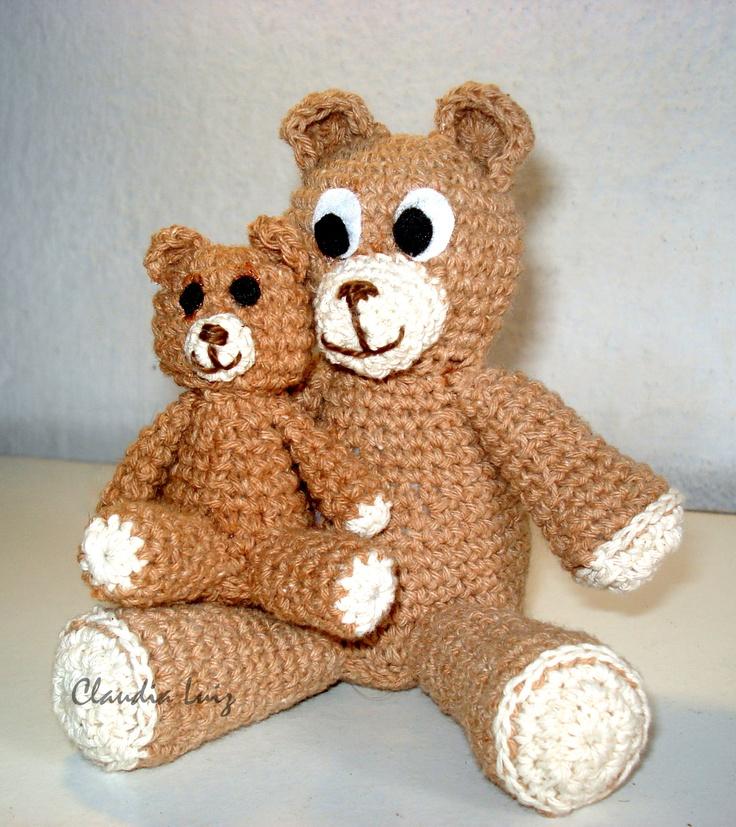 Papai Urso e seu filhinho!   Contato: clauddiasantos@hotmail.com