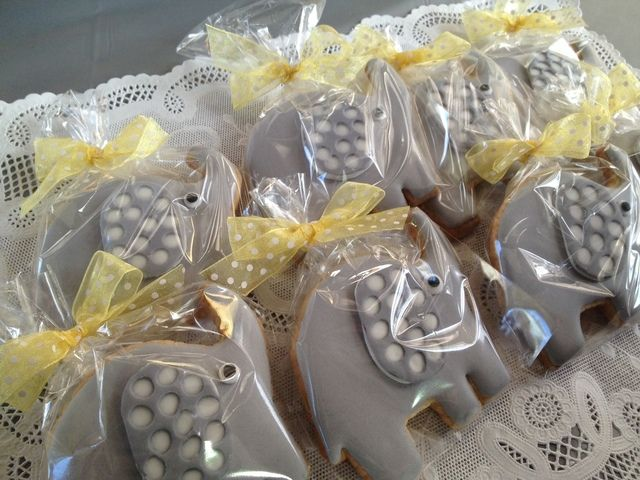 at a gray and yellow elephant baby shower see more party ideas