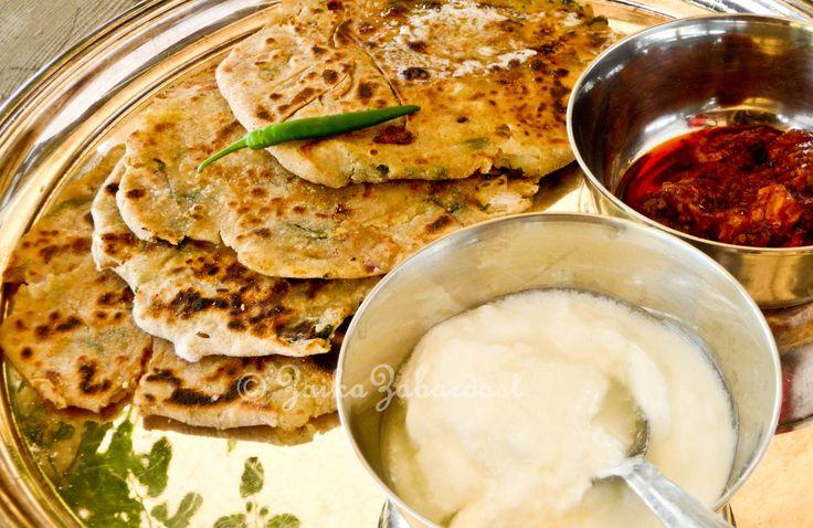 potato stuffed Indian flat bread (Aloo Paratha)