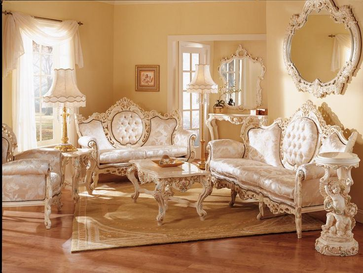 Geny french provincial living room set wish upon a for Living room decor sets