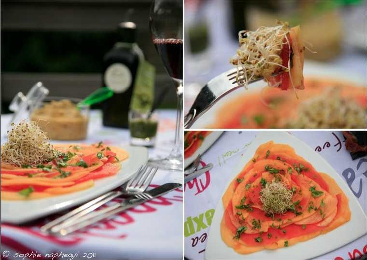 melon carpaccio | Sophie's food | Pinterest