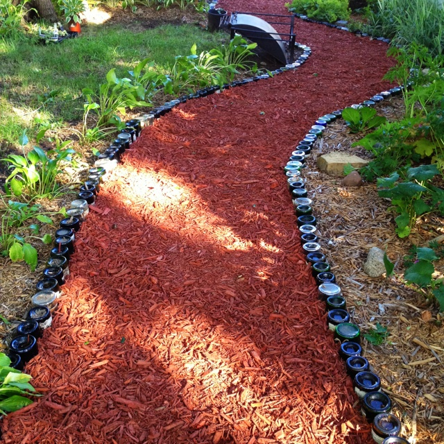 my wine bottle path the greene garden pinterest